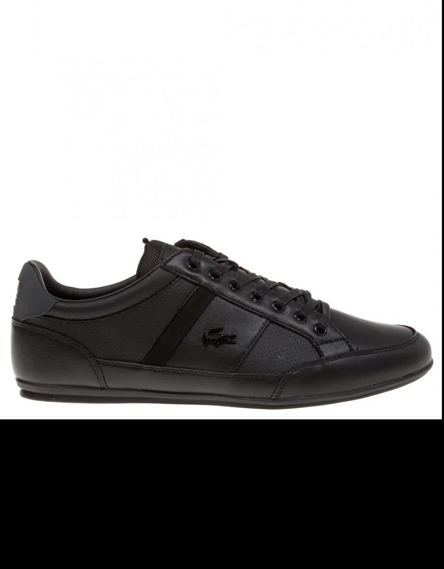 el más baratas diseño unico clásico Lacoste Chaymon Prm, zapatillas Negro Piel   56690   OFERTA