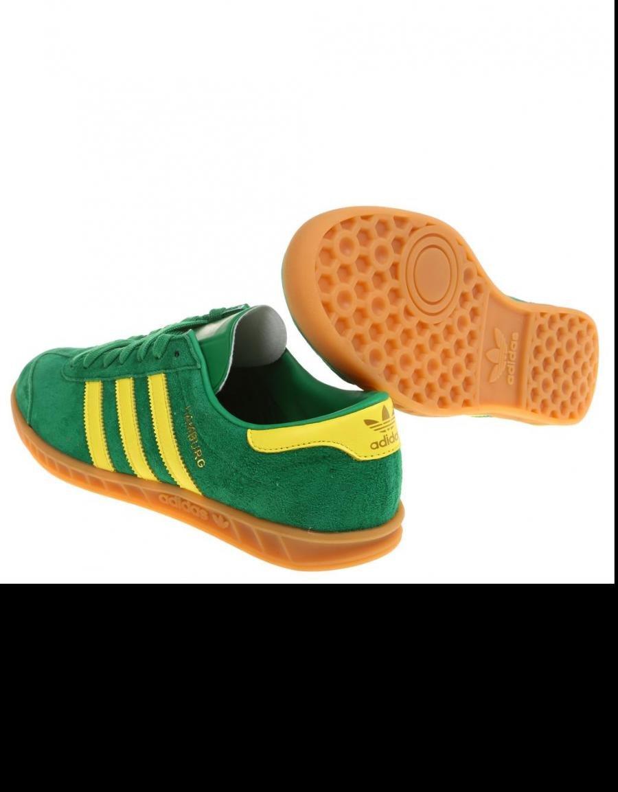 zapatillas adidas verdes y amarillas