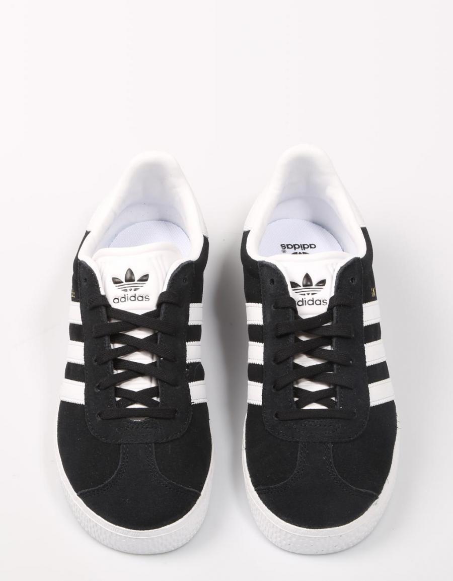Adidas Negro Lona Gazelle Zapatillas 60857 rSEqrwxO