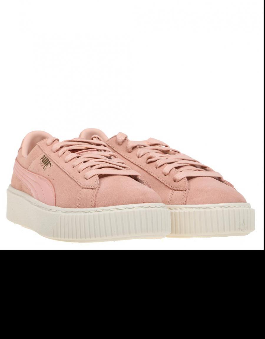 puma suede platform rosa