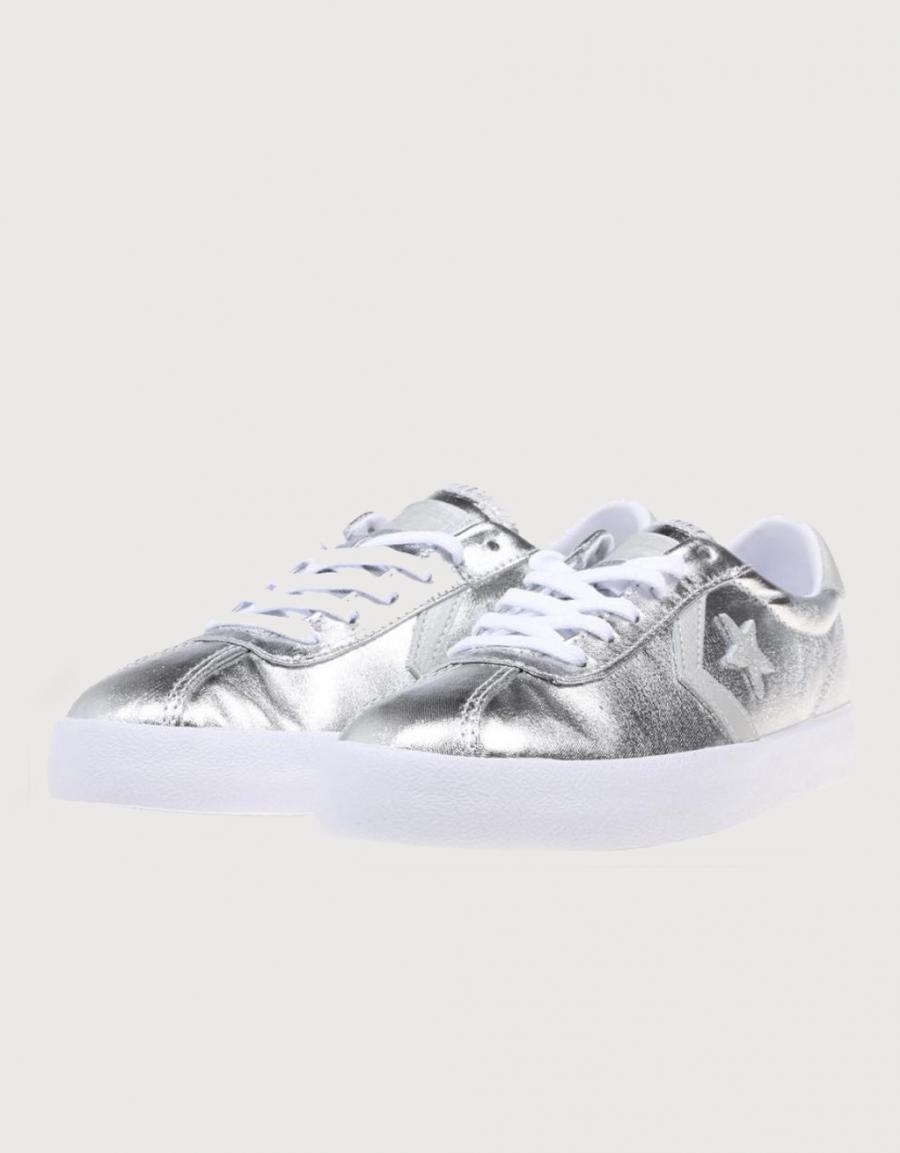 zapatillas converse plata