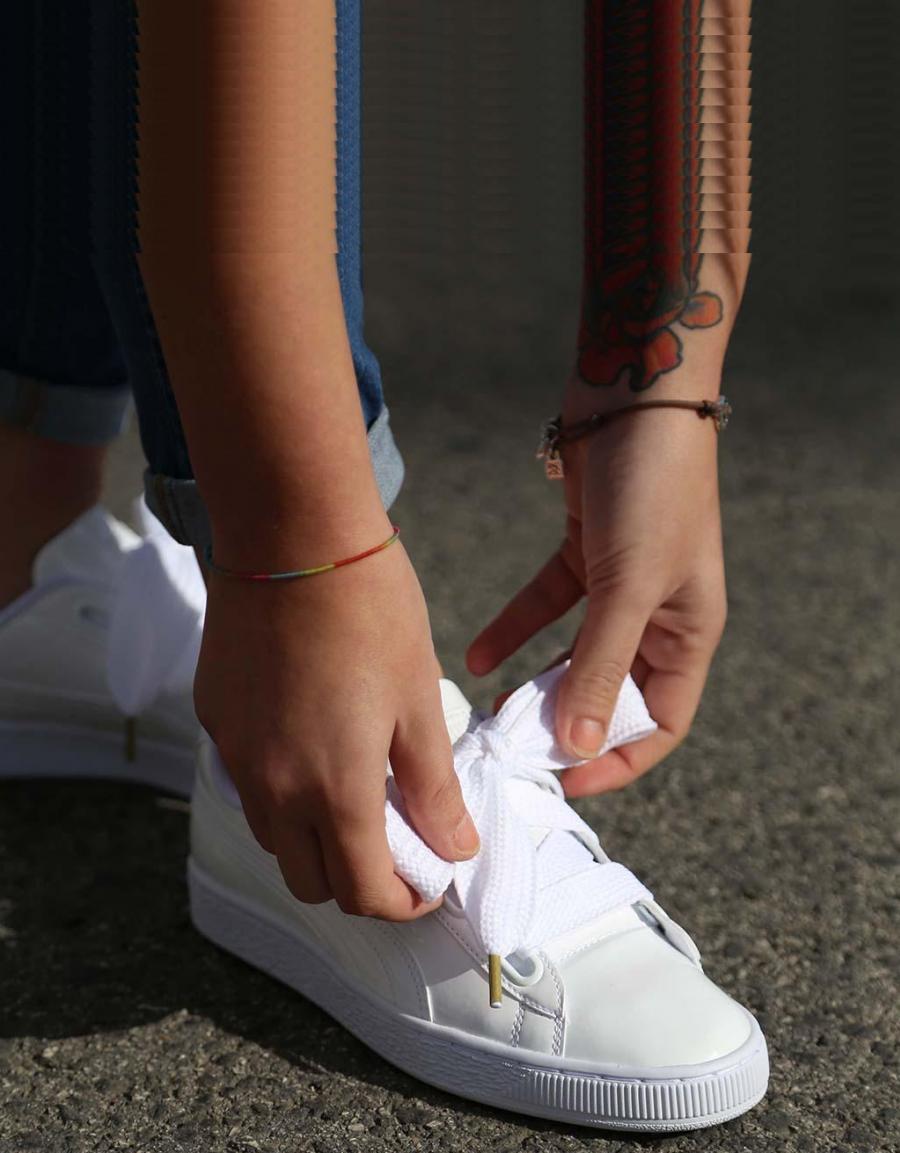Zapatillas Puma BASKET HEART en Blanco. BASKET HEART ... 406f373fc98