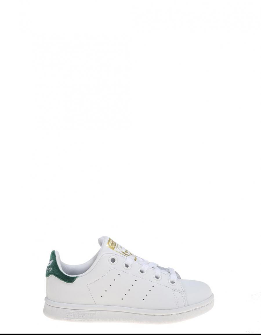 Zapatillas Zapatillas Zapatillas adidas STAN SMITH C Blancas y talonera verde 906548