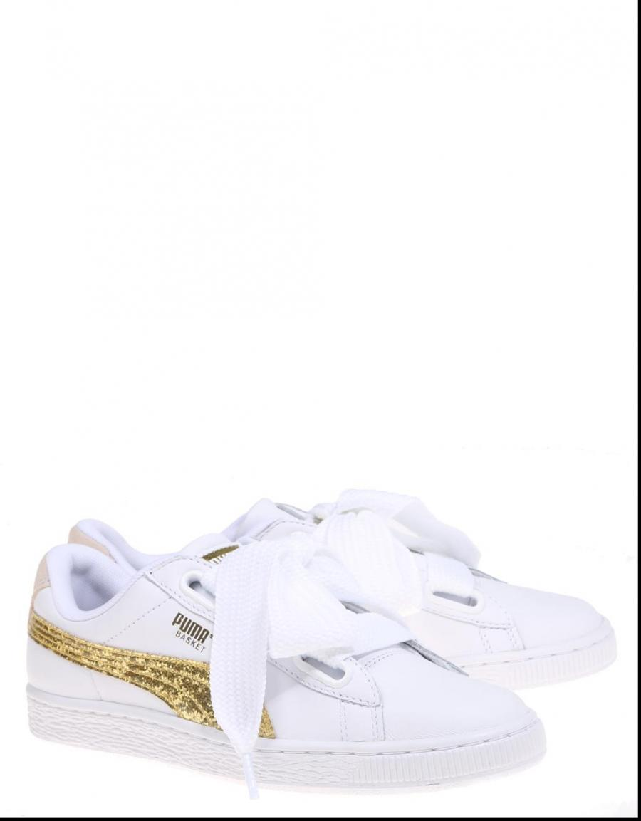 Puma Basket Heart Glitter Wn´S Blanco