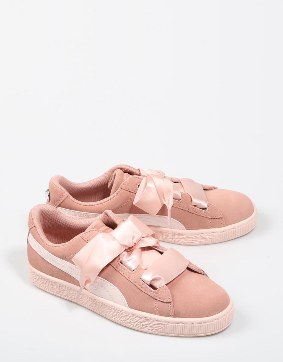puma basket charol rosa