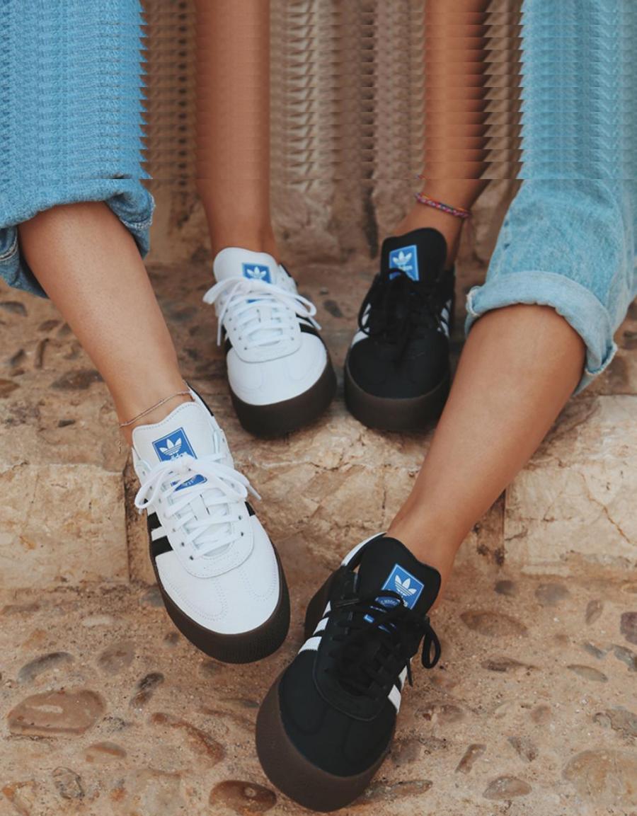 Página web oficial real mejor valorado pulcro ADIDAS Sambarose W, zapatillas Blanco Piel | 67447