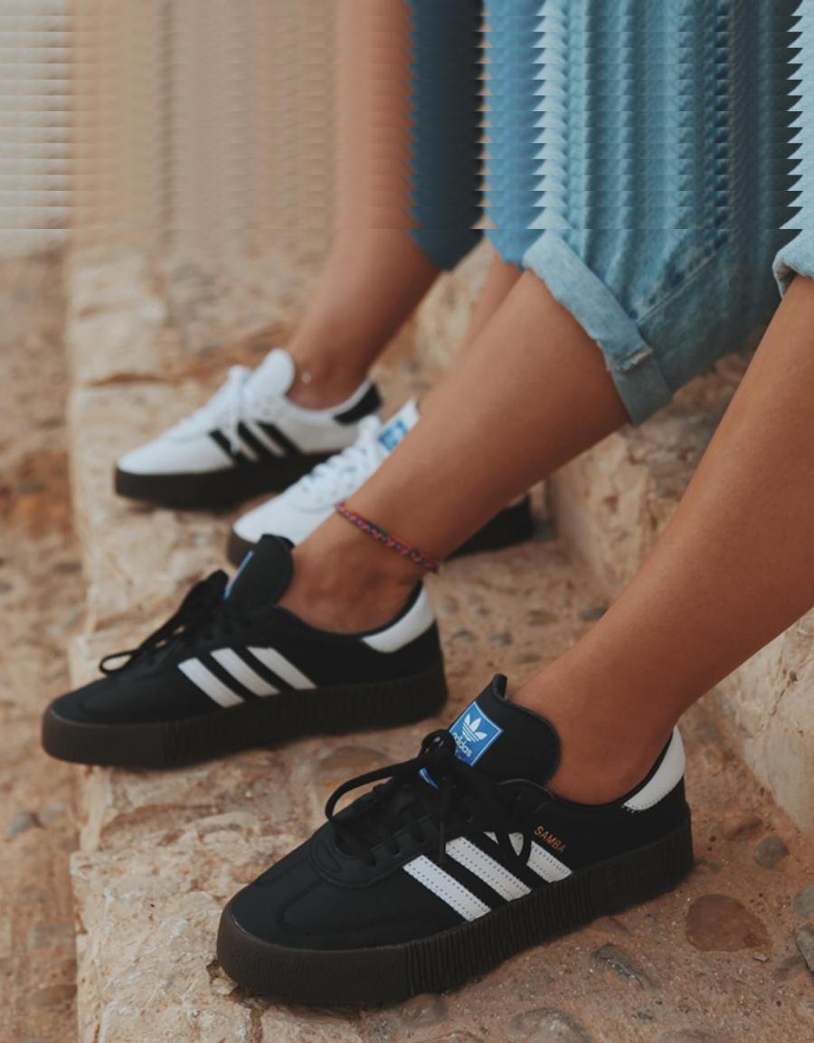 ADIDAS Sambarose W, zapatillas Negro Piel | 67448 | OFERTA