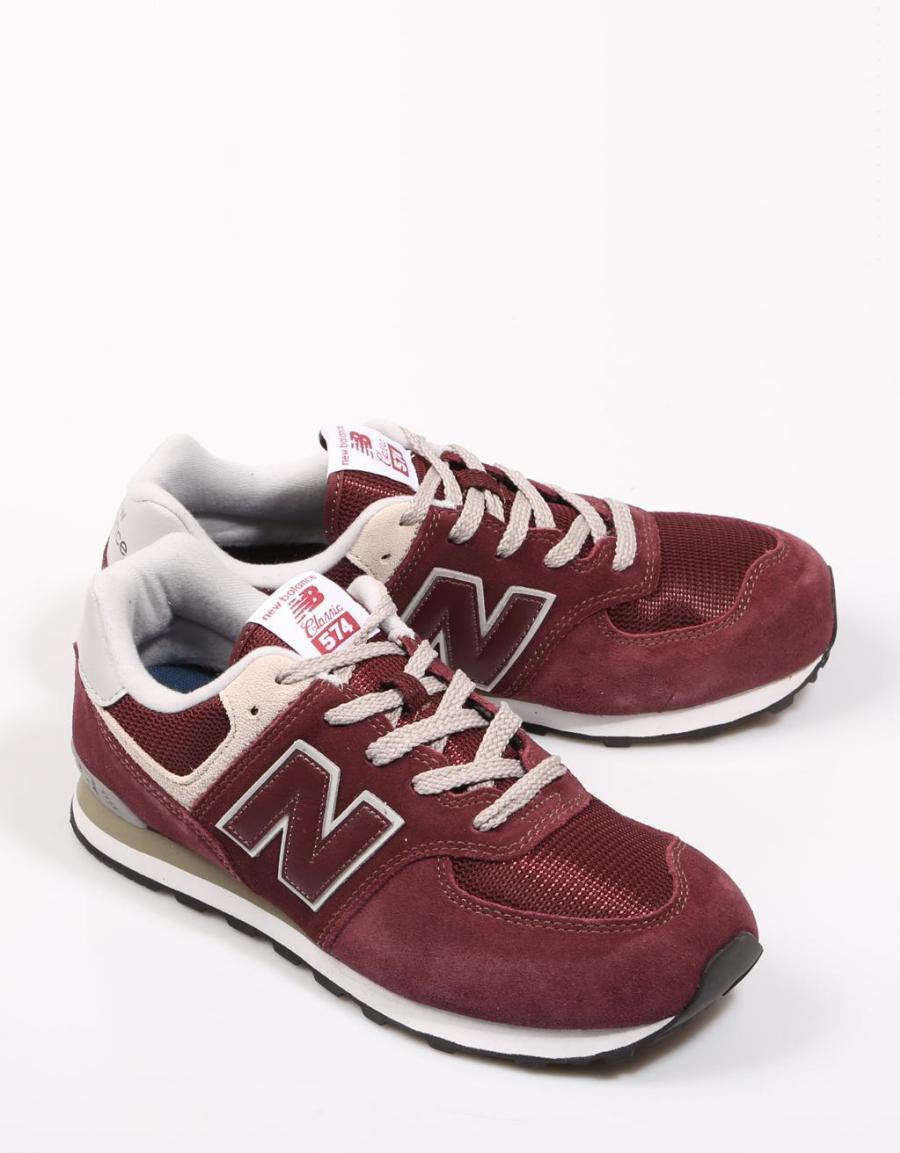 New Balance Gc 574, zapatillas Burdeos Serraje | 67685 | OFERTA