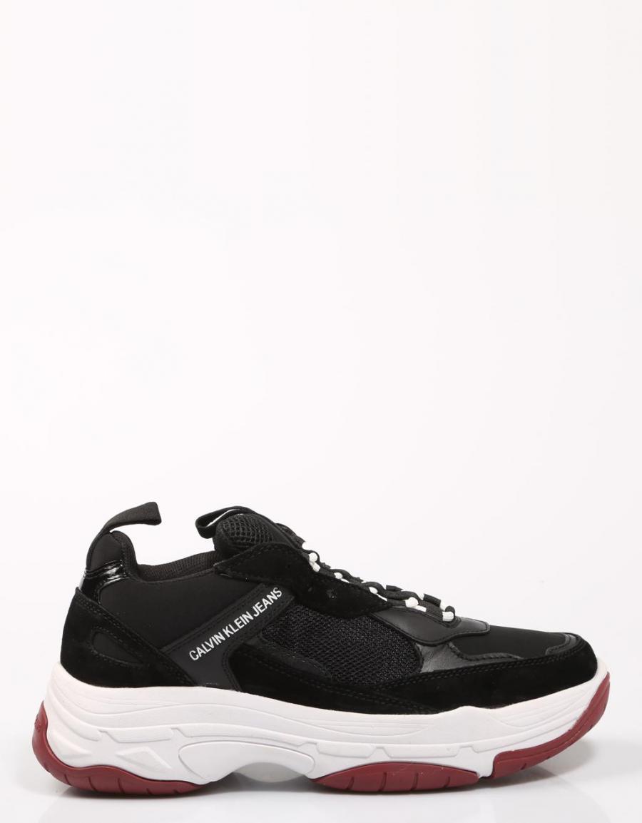 Calvin Klein Marvin, zapatillas Negro Lona   67956   OFERTA