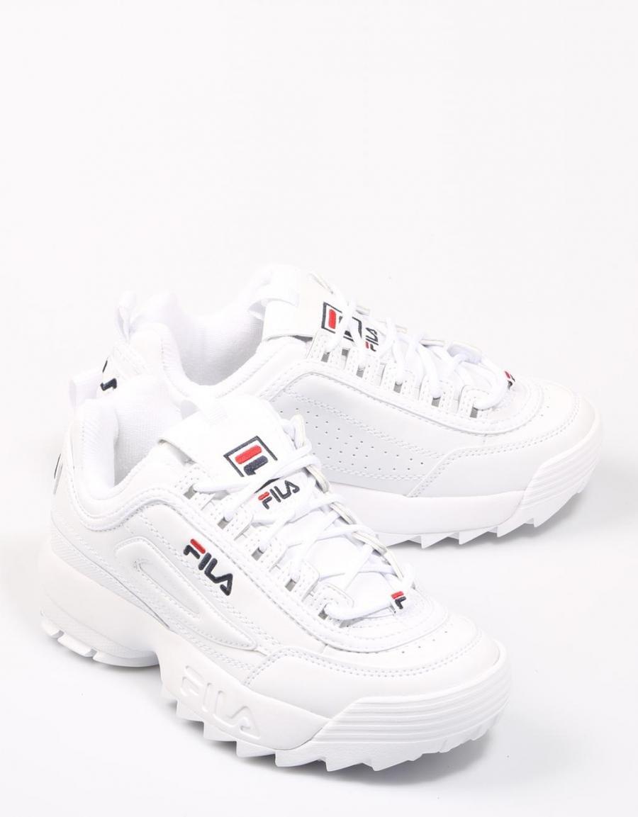 Fila Disruptor Wmn, zapatillas Blanco Piel | 68492