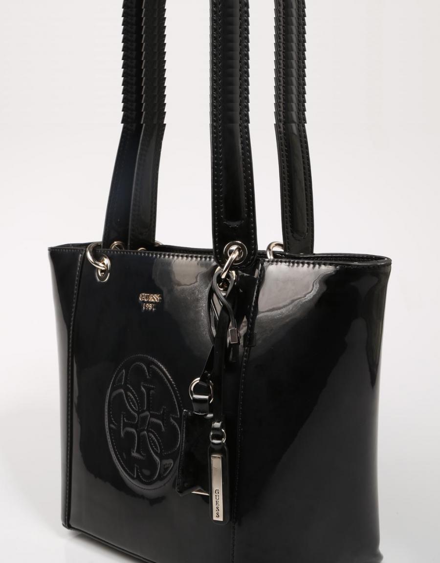 Oferta: Guess Bags Kamryn Tote, bolso Negro Charol | 68727