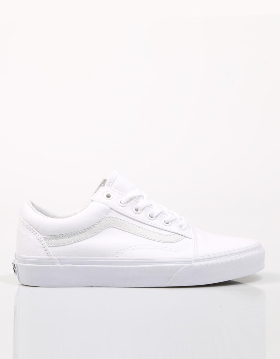 zapatillas vans mujeres blancas tela