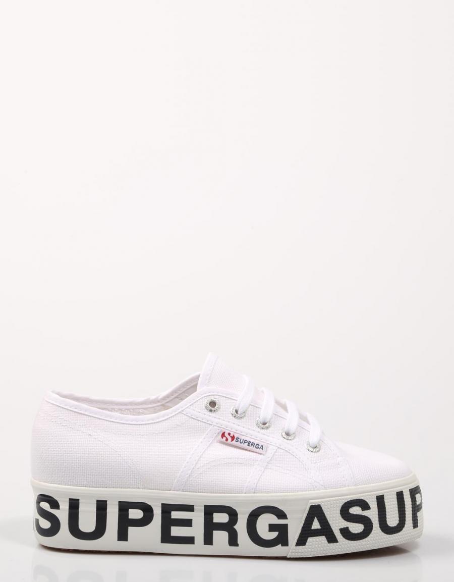 Zapatillas de lona de mujer Superga de color blanco con logo
