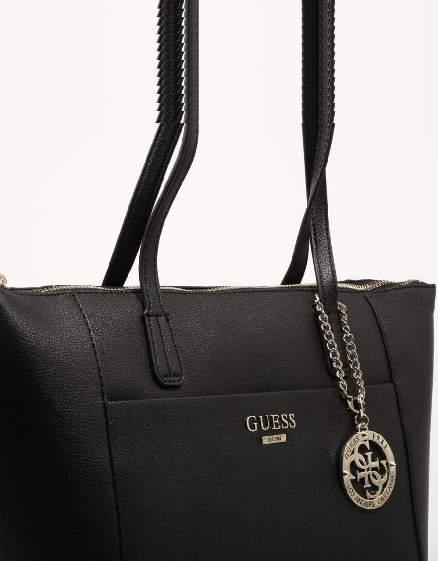 Guess Bags Alma Tote, bolso Negro Polipiel | 70343
