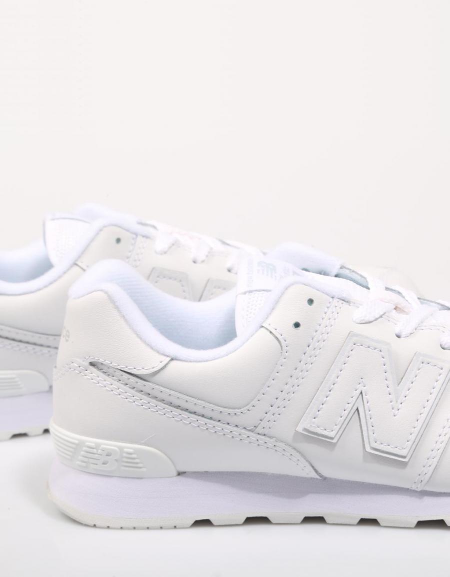 New Balance Gc574, zapatillas Blanco Piel   70739   OFERTA