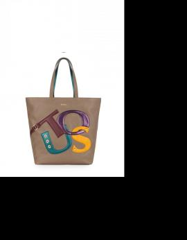 BOLSO TOUS SHOPPING PATCH LOGO