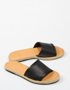 ESPARDEÑAS LEATHER FLAT MULE