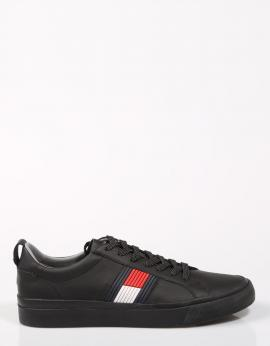 FLAG DETAIL LEATHER SNEAKER