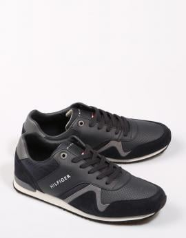 ZAPATILLAS ICONIC LEATHER TEXTILE RUNNER