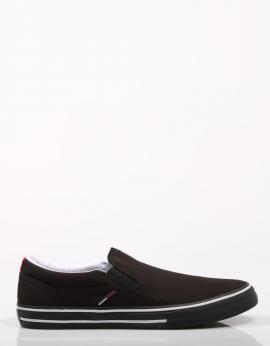 TOMMY JEANS TEXTILE SLIP ON Negro