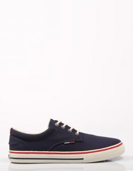TOMMY JEANS TEXTILE SNEAKER Azul marino