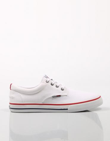 TOMMY JEANS TEXTILE SNEAKER Blanco