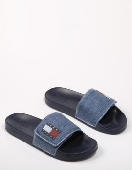 CHANCLAS MENS TOMMY JEANS DENIM POOLSLIDE