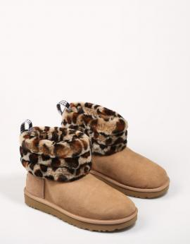 BOTINES FLUFF MINI QUILTED LEOPARD