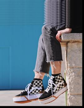 ZAPATILLAS SK8 HI STACKED CHECKERBOARD