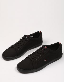 ICONIC LONG LACE SNEAKER Negro