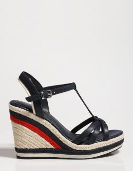SANDALIAS TOMMY STRAPPY HIGH WEDGE