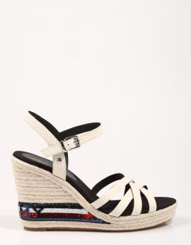 SANDALIAS TOMMY SEQUINS HIGH WEDGE SANDAL