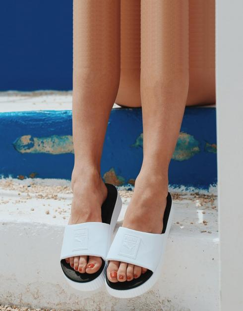 Sandales Plate-forme Coulissante Pumas Wns Blanc Nice vente shopping en ligne litmYLUjCe