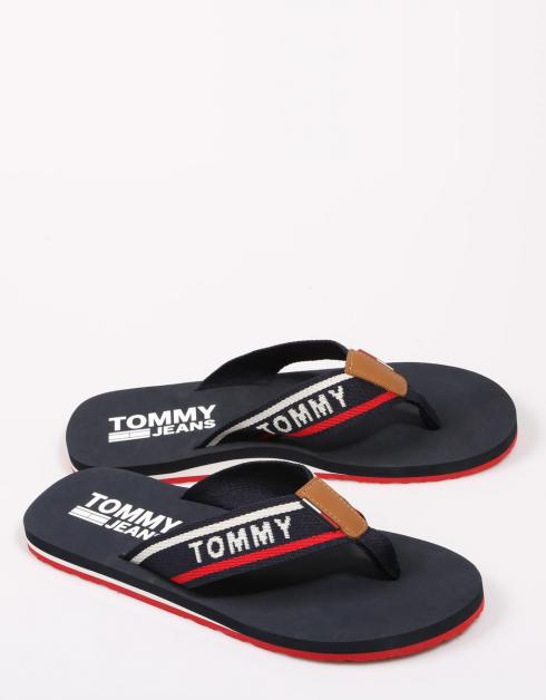 Chanclas Jeans Tommy Hilfiger Mens Sandales Tommy Plage En Azul Marino