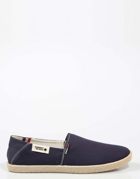 Espardeñas Jean Tommy Tommy Hilfiger __gvirt_np_nn_nnps<__ Glissement D'été Sur Chaussures En Azul Marino