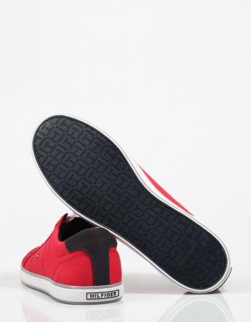 Zapatillas Tommy Hilfiger Ikoniske Lang Snøre Sneaker En Rojo for billig billig salg profesjonell r0EGf8