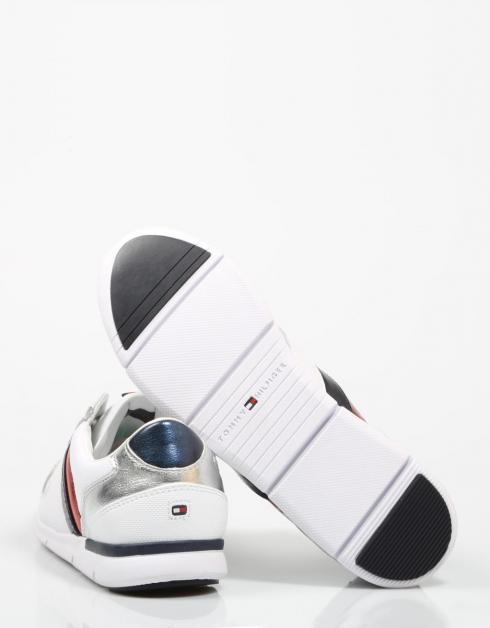 Zapatillas Tommy Sneaker En Cuir Léger En Blanco Hilfiger 2015 nouvelle jeu best-seller vente grande remise populaire en ligne beaucoup de styles GWhV2