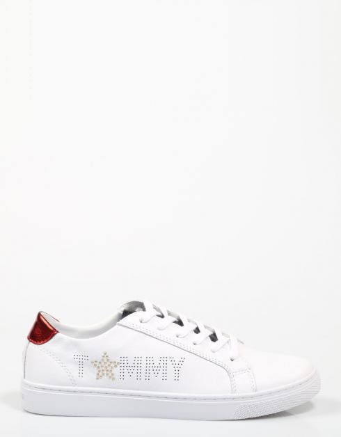collections de sortie Zapatillas Tommy Étoiles Tommy Hilfiger Sneaker Métallique En Blanco bon marché vente extrêmement khNbWKVCq