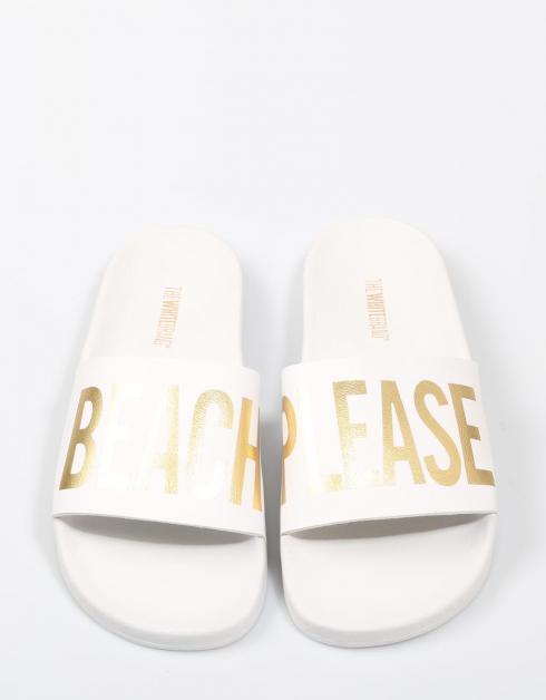 Chanclas The White Brand BEACH MINIMAL en Blanco