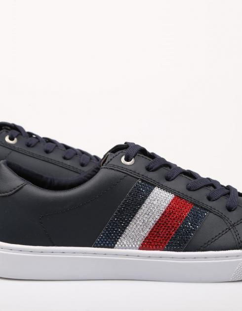 CRYSTAL LEATHER CASUAL SNEAKER