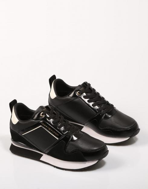 LEATHER WEDGE SNEAKER