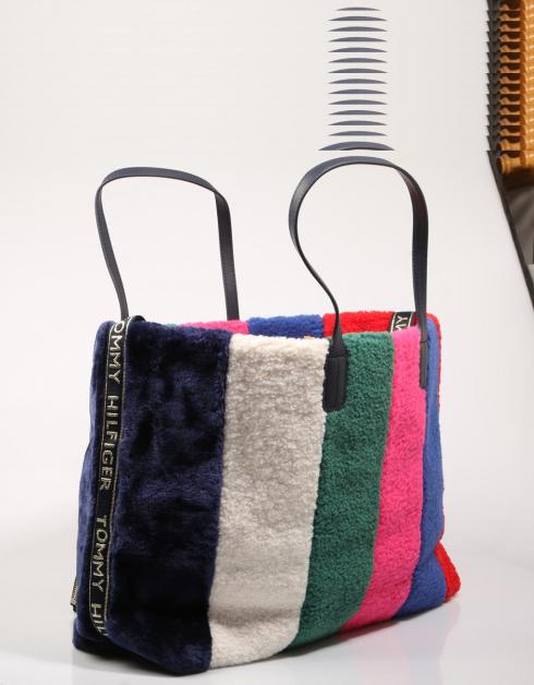 ICONIC TOMMY TOTE RAINBOW FUR