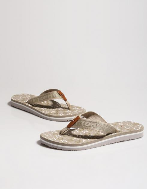 TOMMY METALLIC FLAT BEACH SANDAL