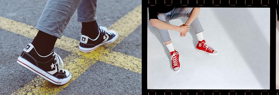 zapatillas converse hombres de piel